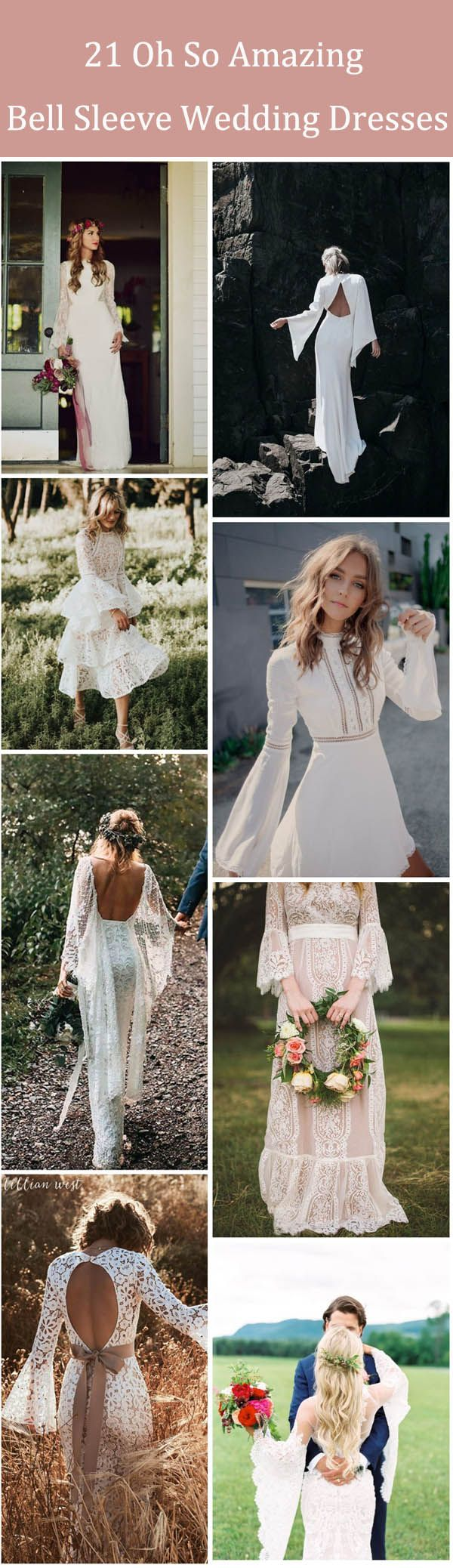 oh so amazing bell sleeve wedding dresses what i want in my