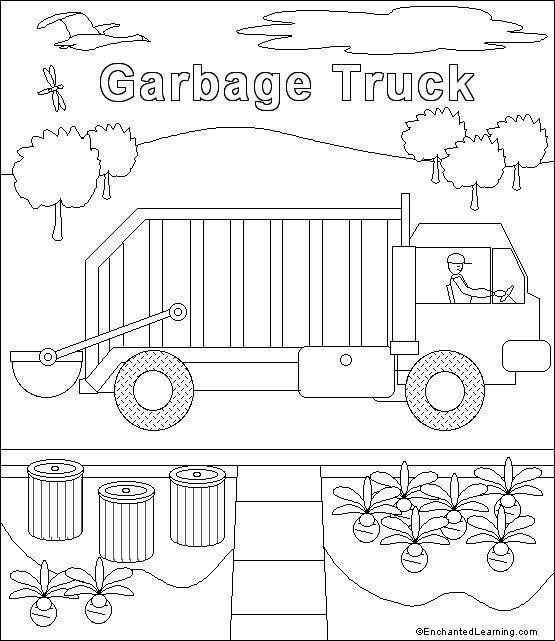 Garbage truck template | Trash Truck 3rd Birthday | Pinterest