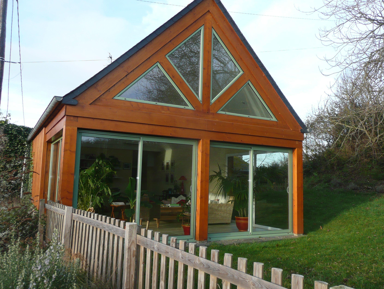 extension sur maison ancienne vue en bretagne v randas bow window pinterest. Black Bedroom Furniture Sets. Home Design Ideas