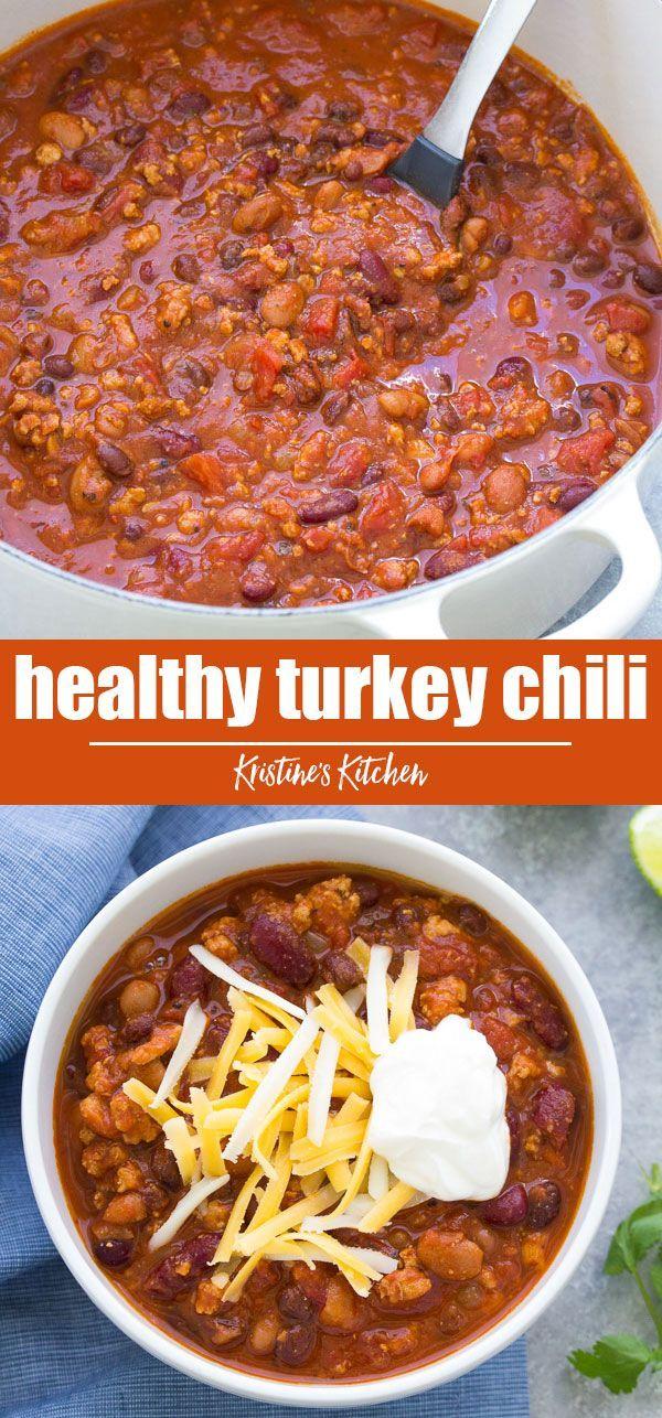 Gesundes Puten-Chili-Rezept (Herd, Slow Cooker oder Instant-Topf)  – Slow Cooker