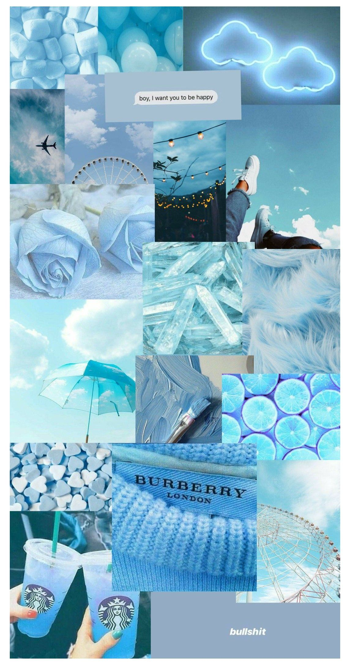 wallpaper aesthetic warna biru