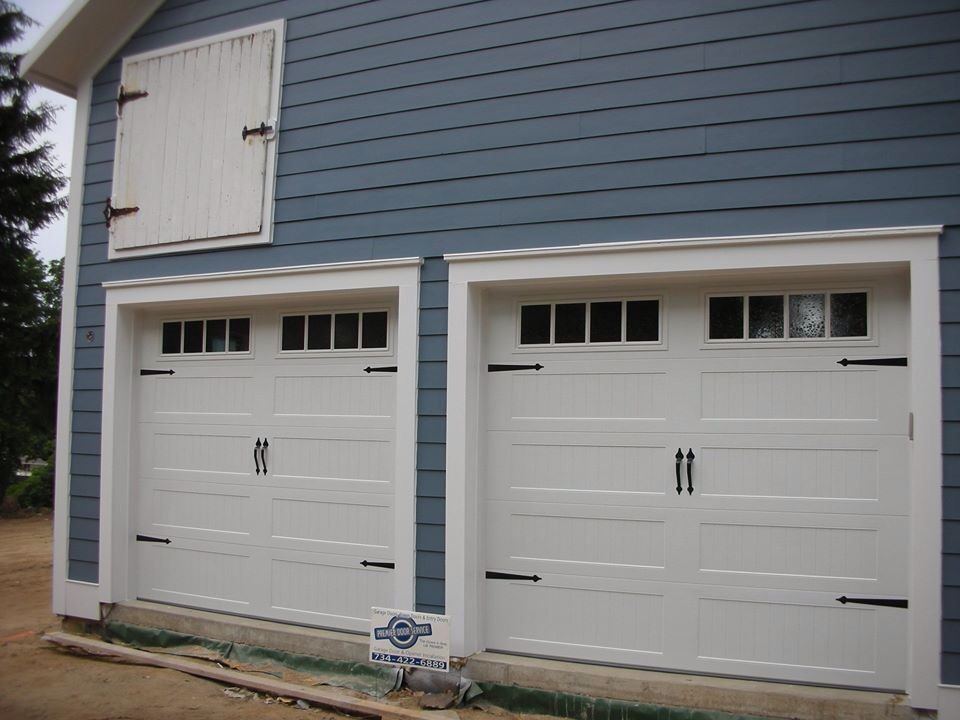 9 X 8 C H I Garage Doors Model 5916 Stamped Panel Color White Window Design Madison Carriag Garage Doors Garage Door Design Garage Doors Prices