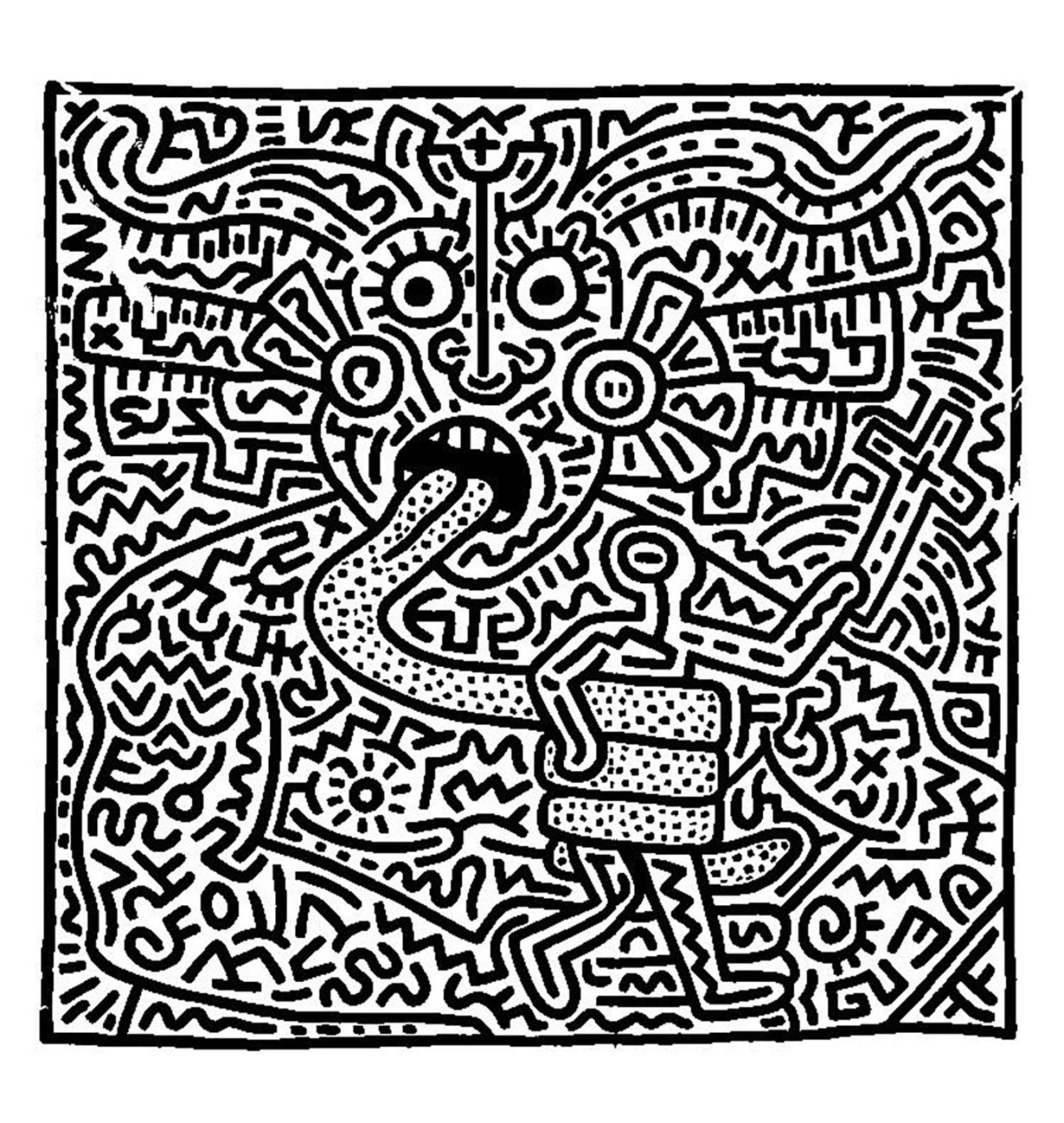 - Keith Haring 1 - Pop Art Coloring Pages For Adults - Just Color