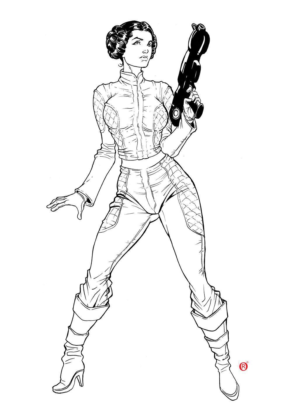 Princess leia coloring pages - Princess Leia Art By Rodrigo Rosa De Souza