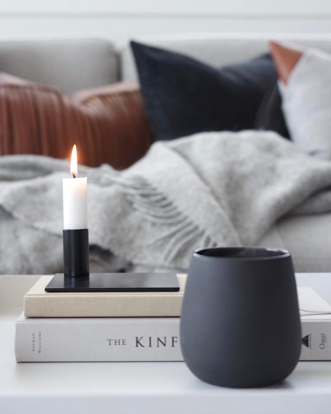 Malling living square candle holder black image by ingvild