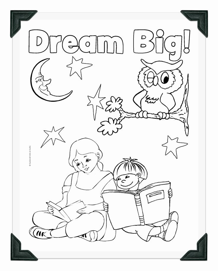 Summer Reading Coloring Pages Best Of Printable Dream Big