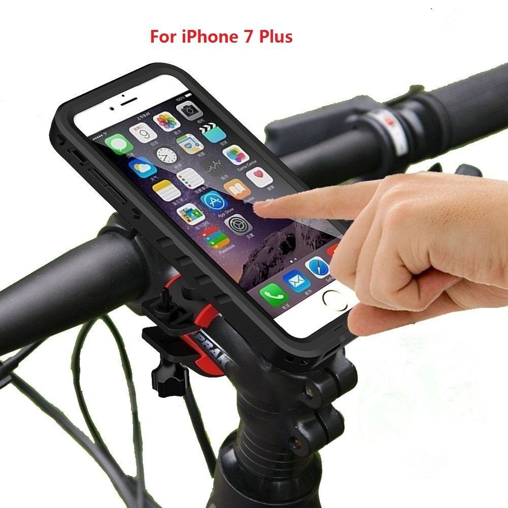 Bike Phone Mount Holder With Waterproof Protective Case For iPhone 8// iPhone 7