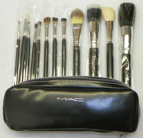 Mac Professional 12 Piece Makeup Brush Set In A Supple Carrying Case By My Depot