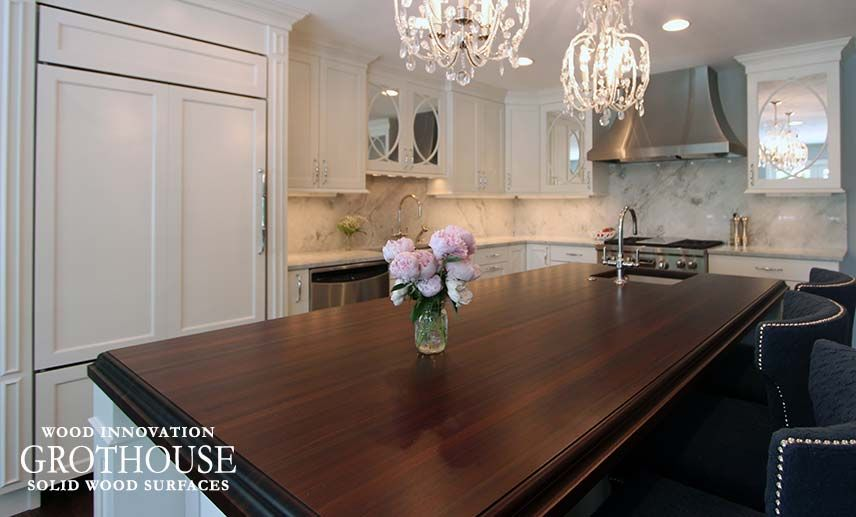 Peruvian Walnut Kitchen Island Countertop In Madison, WI