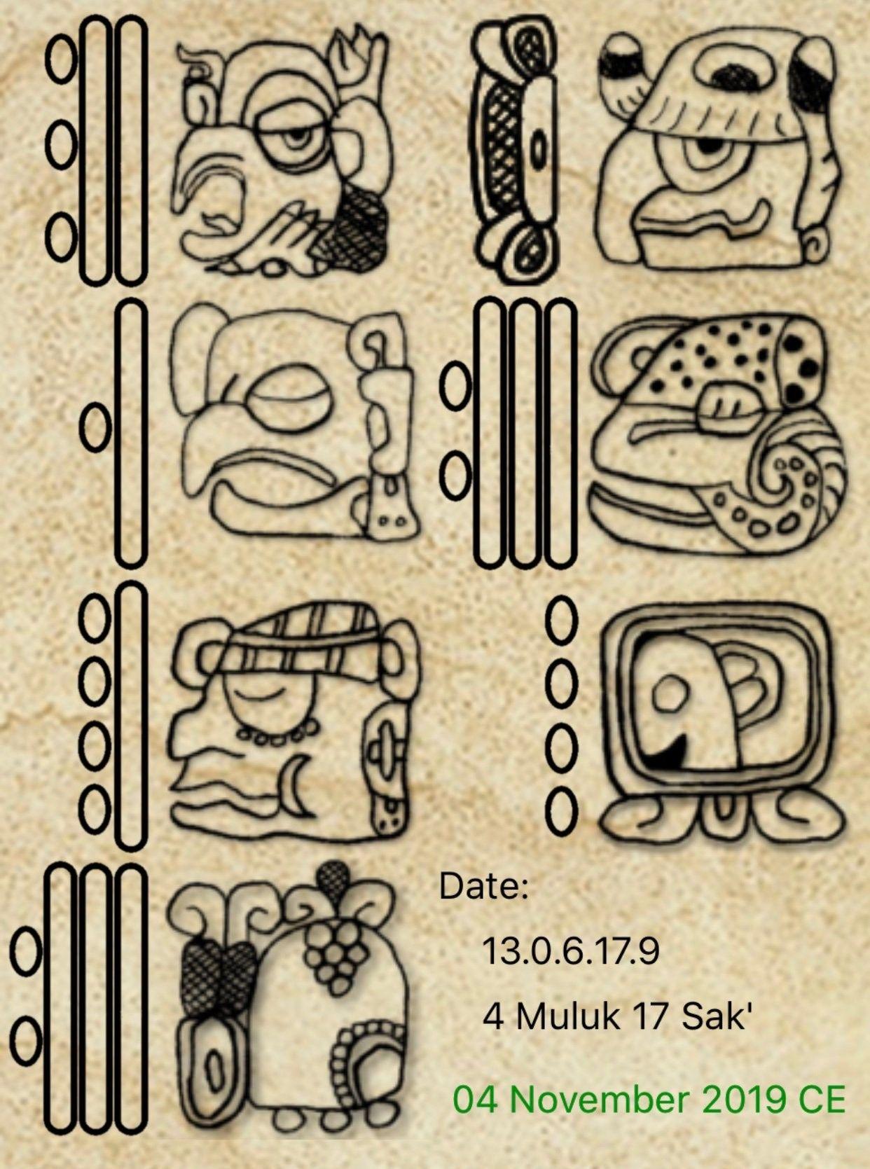 Epigrafia Maya Calligraphy