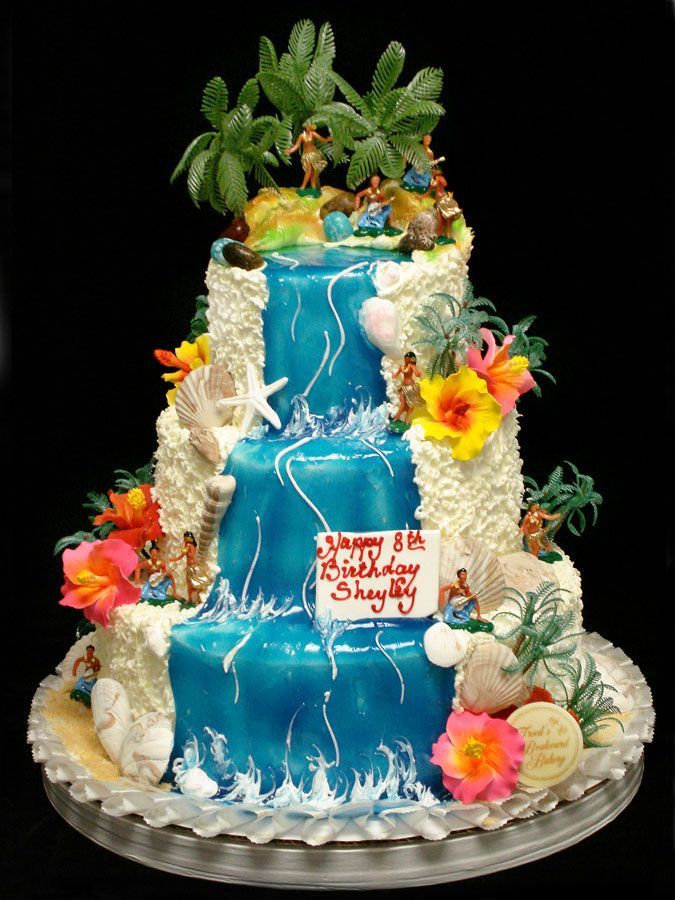 hawaiian wedding cake designs birthday cakes las vegas freed s bakery amazing 15110