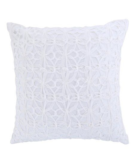 Levtex Home White Spa Pin Tuck Throw Pillow Zulily With