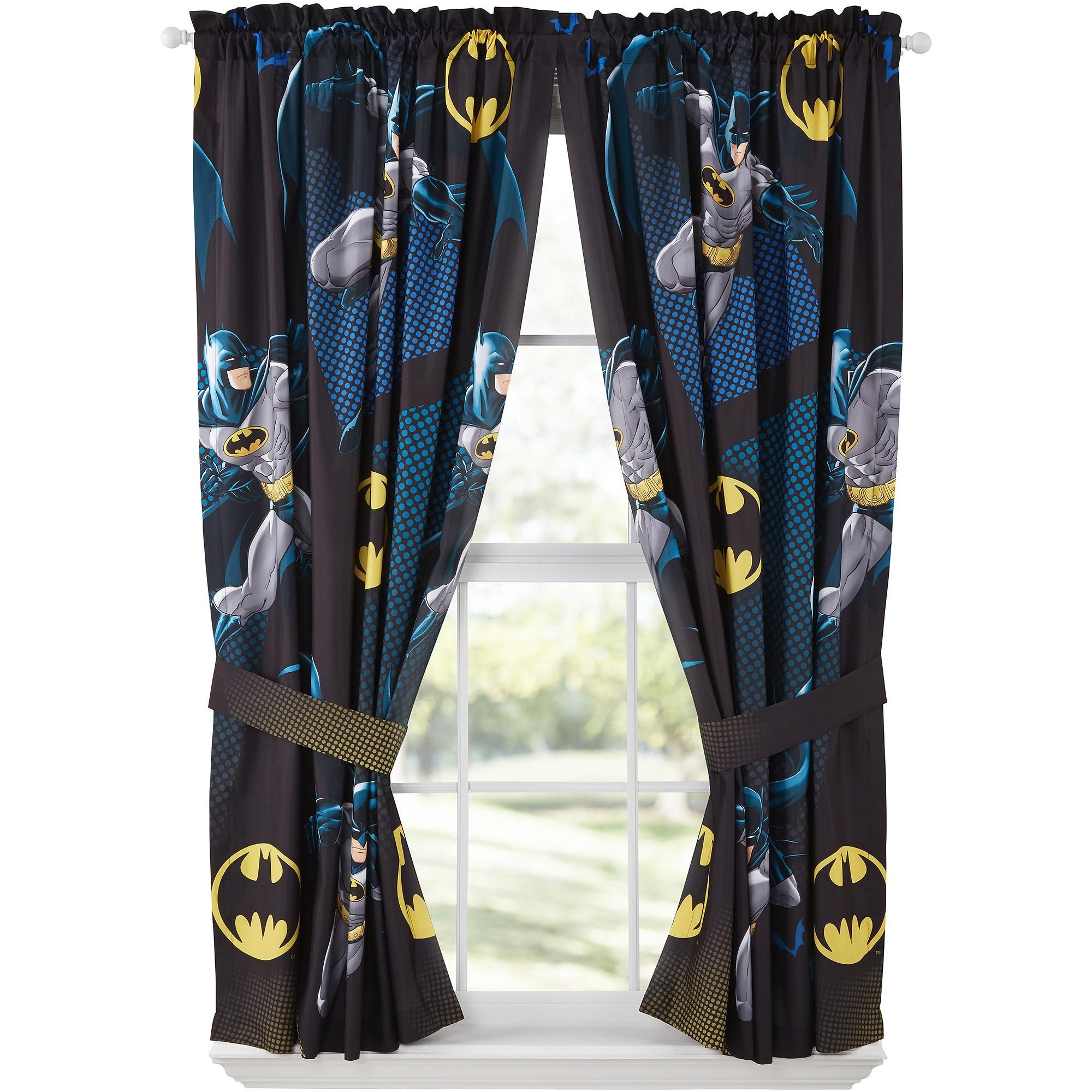 Batman Curtains Google Search Batman Room Batman Bed Kids