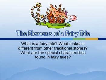 story elements of a fairy tale powerpoint and reading activity education fairy tales story. Black Bedroom Furniture Sets. Home Design Ideas