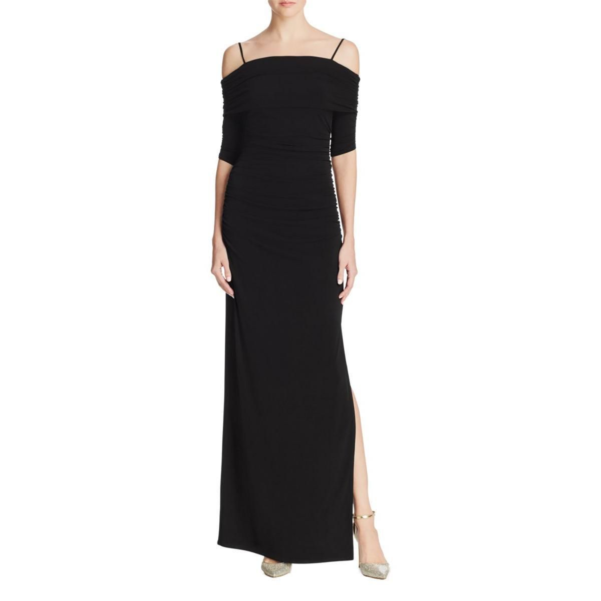 Cool great laundry by shelli segal womens black side slit