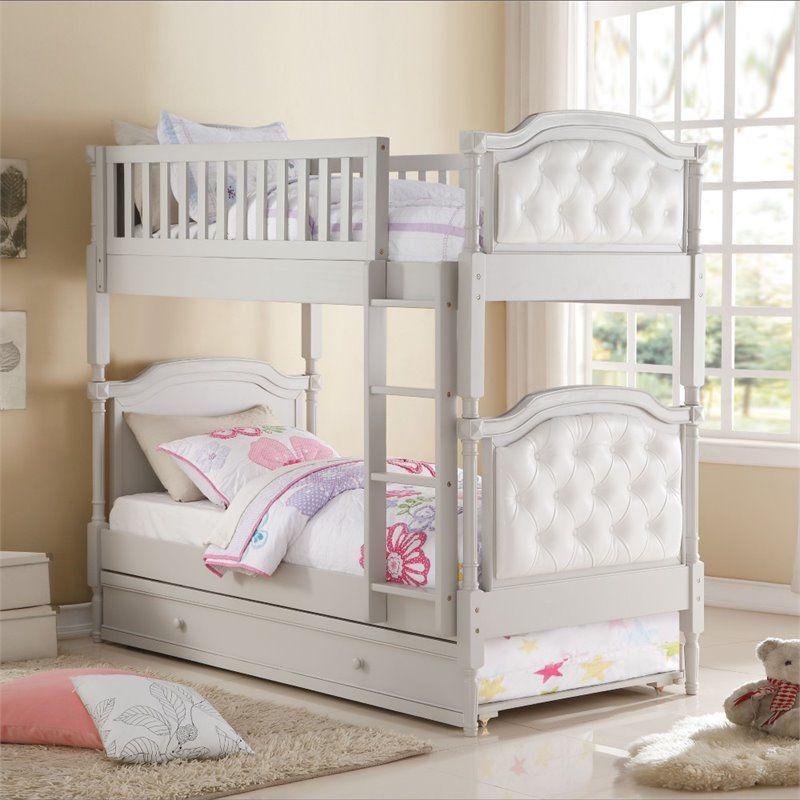 Tempat Tidur Tingkat Anak Perempuan Klasik Ranjang Tingkat Kamar Tidur Kecil Perabot Kamar Tidur