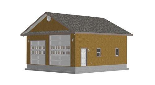 G358 30 x 32 x 136 RV Garage Plans Workshop – 32 X 40 Garage Plans