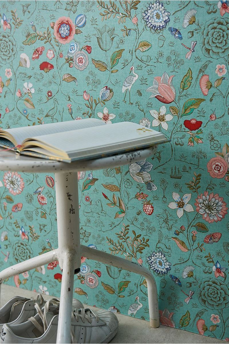 Pip Studio Badtextiel.Spring To Life Wallpaper Green C 1900 Home Ideas And