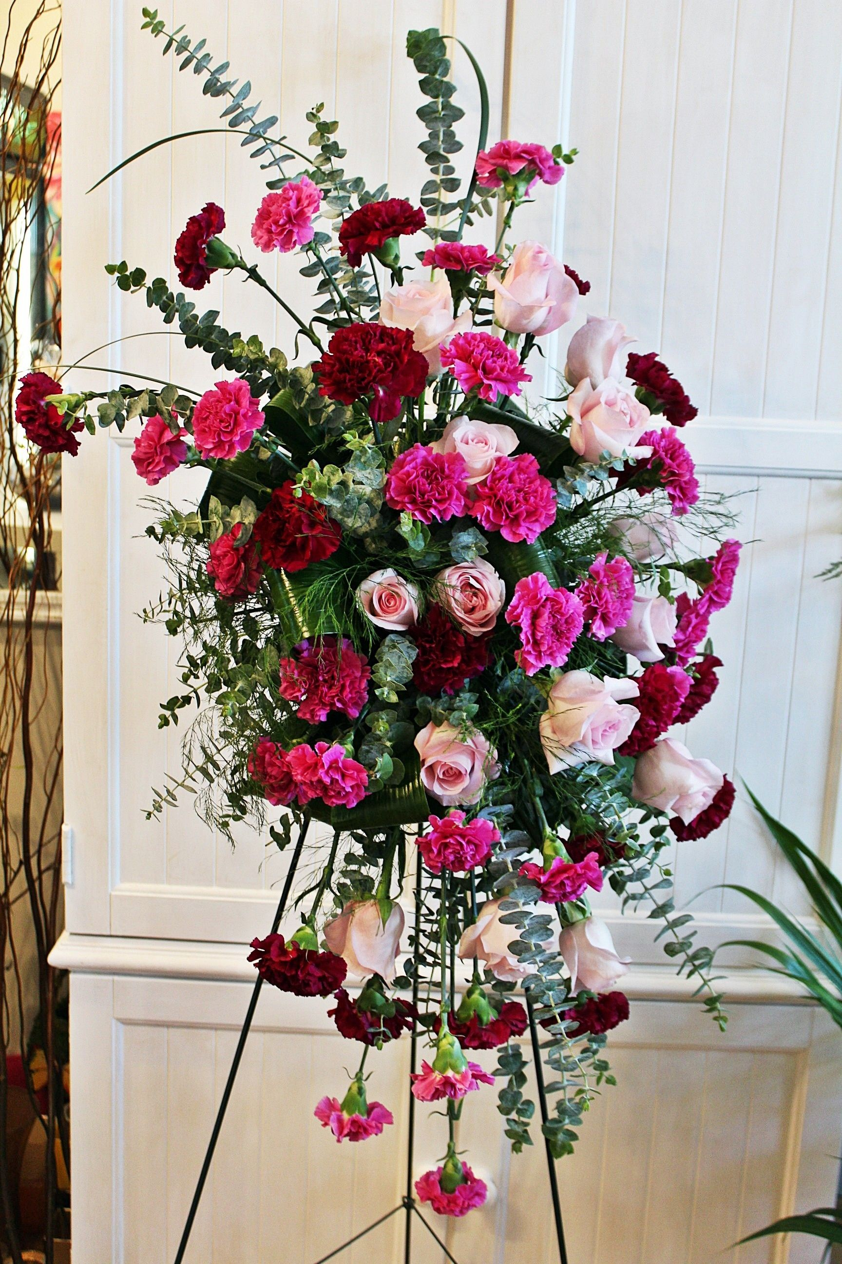 HOPE Carnations standing spray SS1 Carnations, All