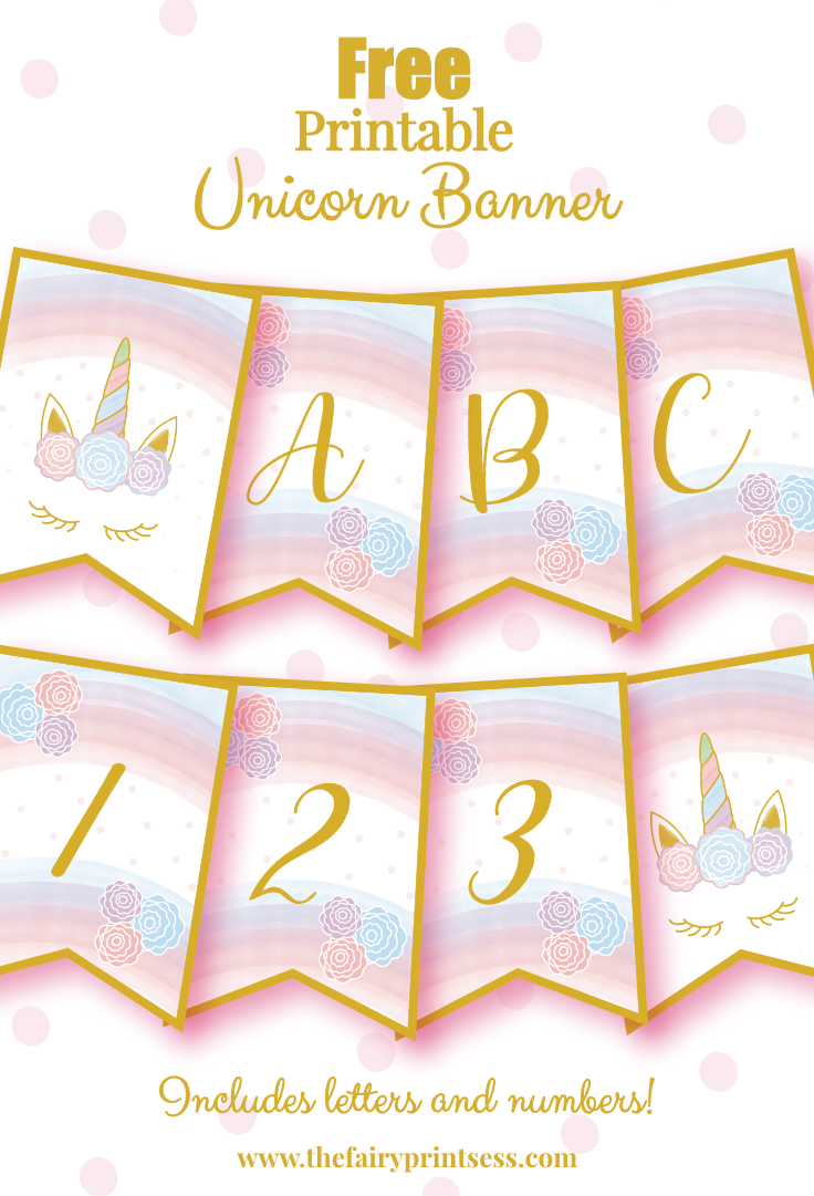 Free Printable Unicorn Banner Perfect For Party Decor And More Birthday Banner Free Printable Printable Birthday Banner Birthday Party Printables Free