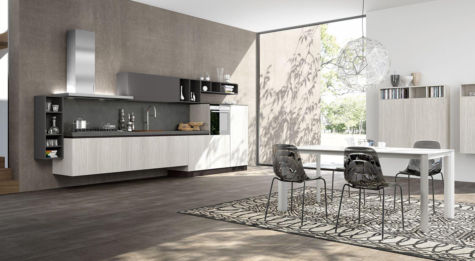 Emejing Cucine Sospese Da Terra Contemporary ...