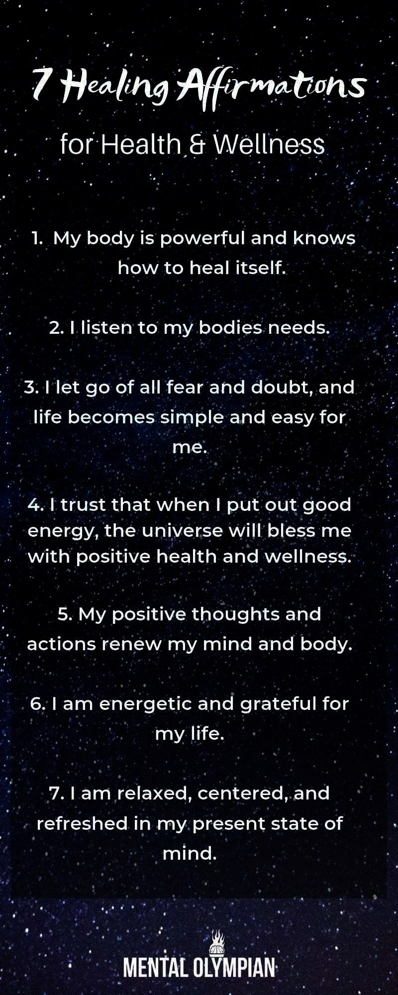 Health and Wellness  Heal yourself with these mindful affirmations Allow the Law of attraction to serve you7 Healing Affirmations for Health and Wellness  Heal yourself w...