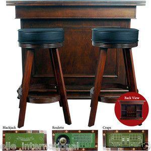 Casino Style Game Table Bar Converts Blackjack Roulette Craps