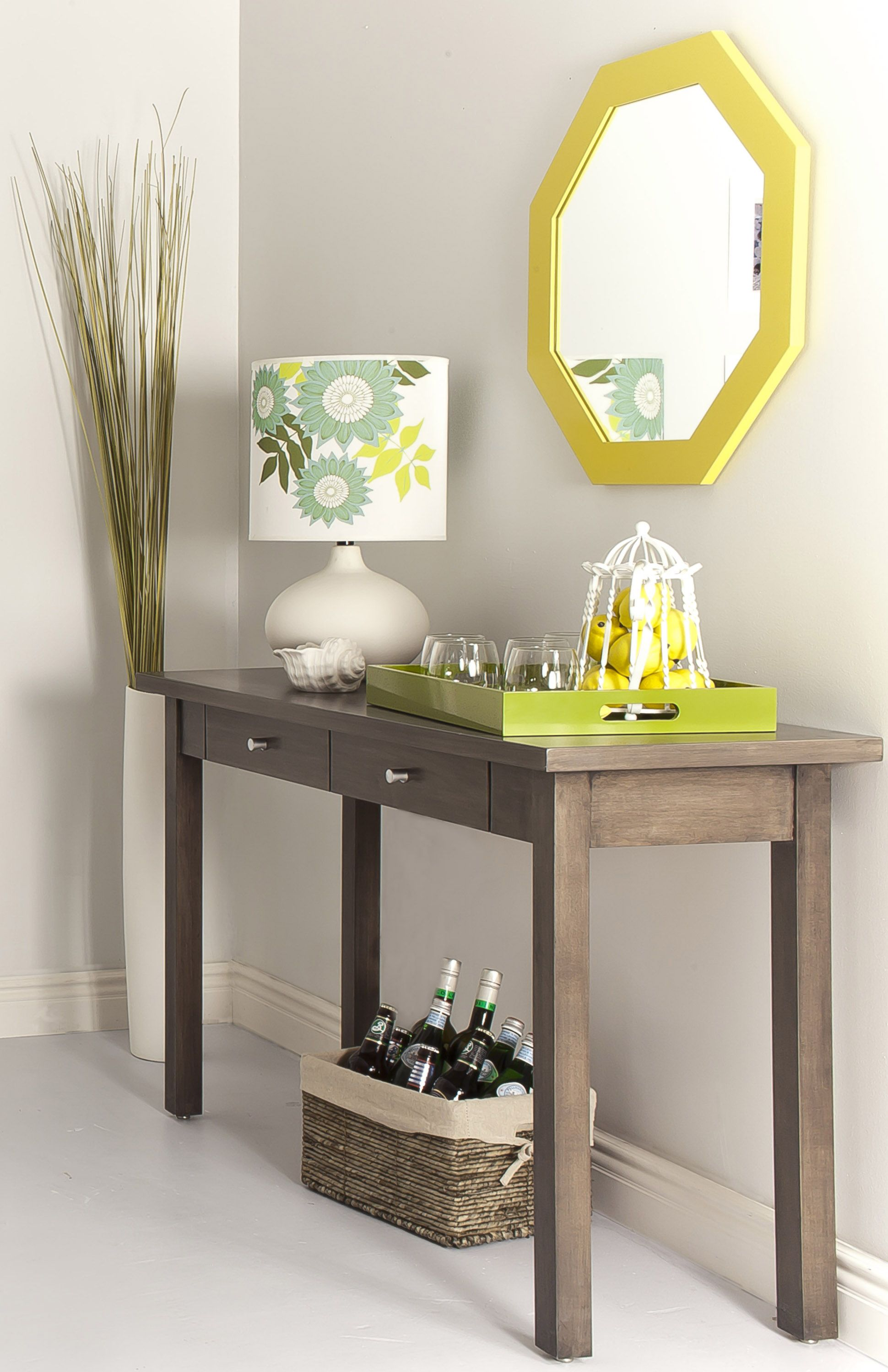 Rustic hallway furniture  Image of Entryway Console Table with Mirror  Home Inspiration