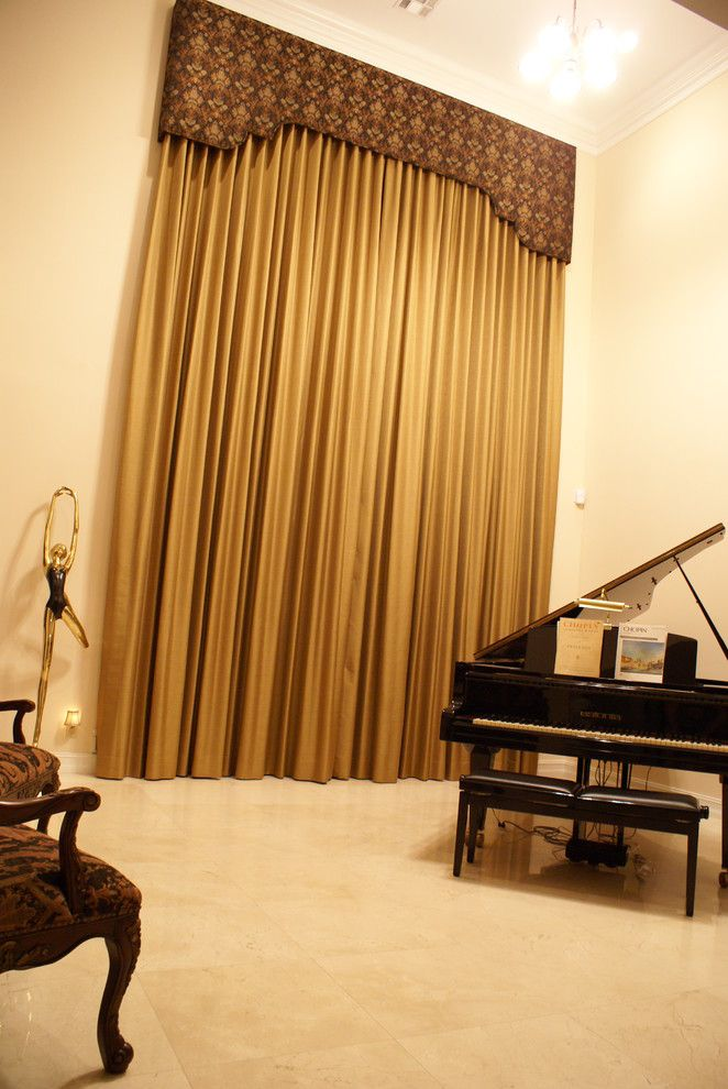 Posts Related To Elegant Window Treatments Living Room Traditional With Cornice Board Drapery Panels