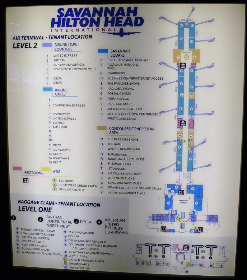 Airport In Savannah Ga Savannah Hilton Head International