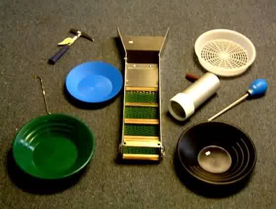 What is gold panning equipment?