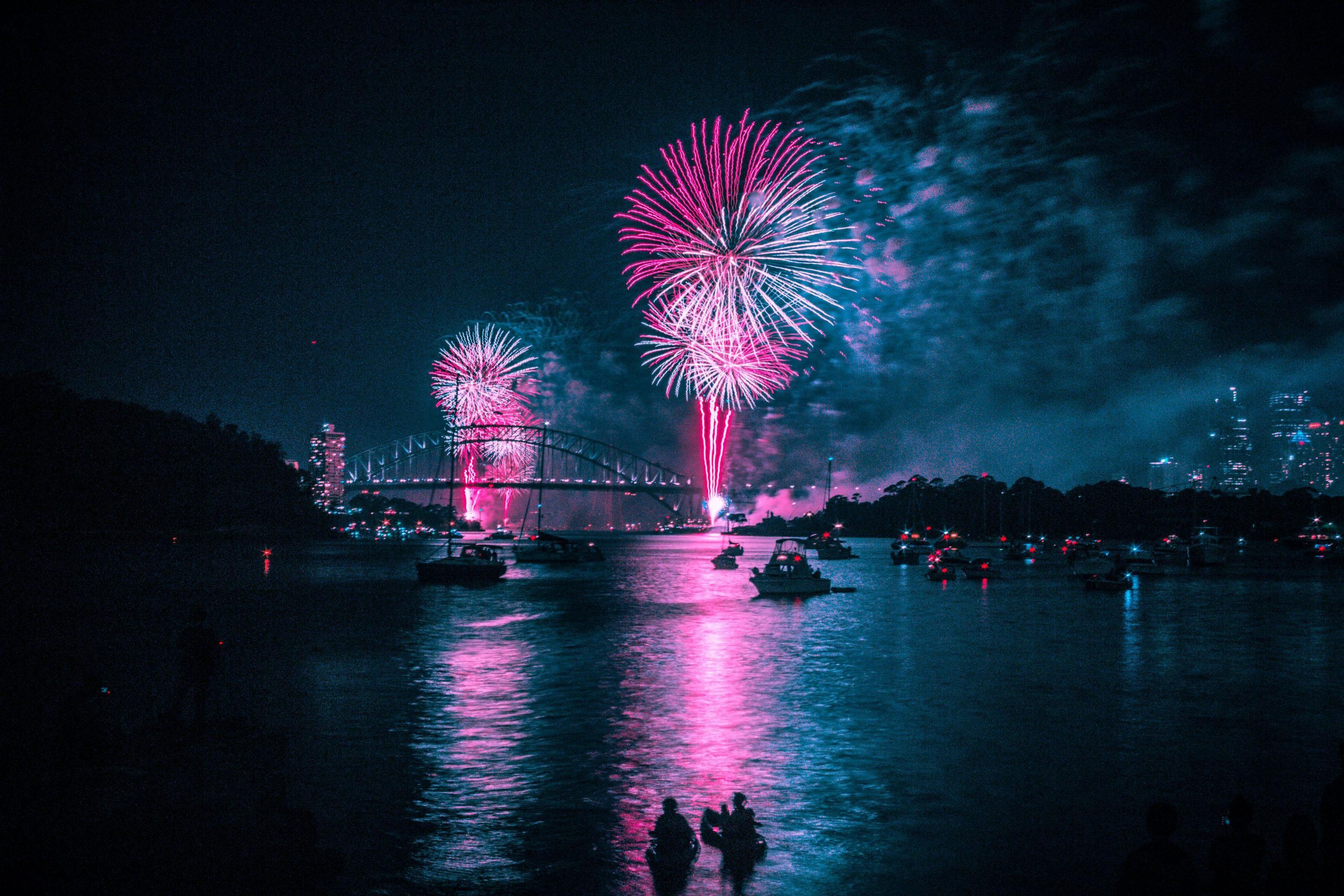 ITAP of Sydney's NYE Fireworks by Hilltopchill . . . .