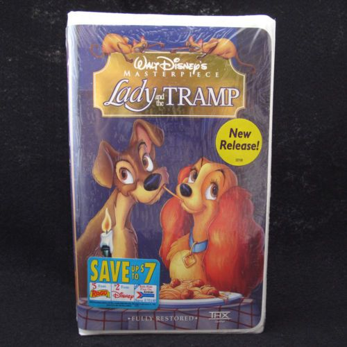 Lady And The Tramp Walt Disney S Masterpiece Vhs Sealed Package Lady And The Tramp Family Gifts Vhs