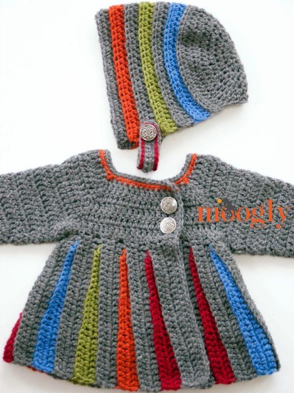 Eloise Bonnet   Chaleco niño, Vestidos de muñecas y Crochet patrones