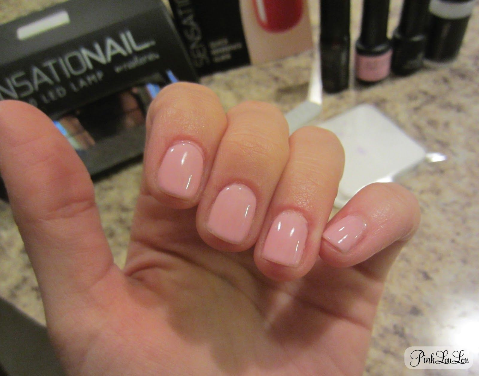 Sensationail At Home Gel Manicure Review Via Pinkloulou In