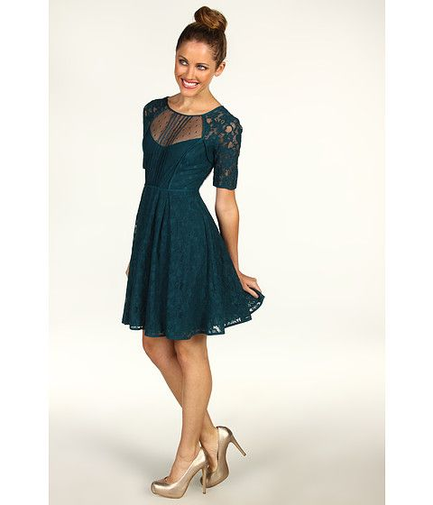 2e9273c250a BCBGMAXAZRIA Petite Julya Lace Cocktail Dress Dark Teal Combo - Zappos.com  Free Shipping BOTH Ways