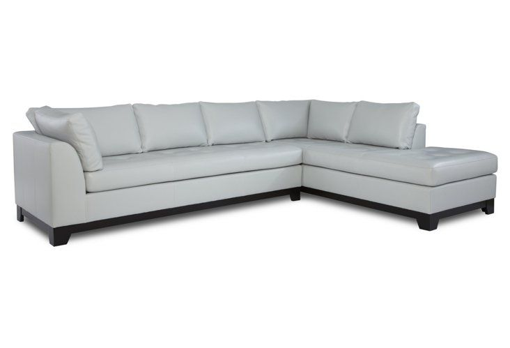 Amazing Eveline Right Facing Sectional Leather Sofas Leather Caraccident5 Cool Chair Designs And Ideas Caraccident5Info