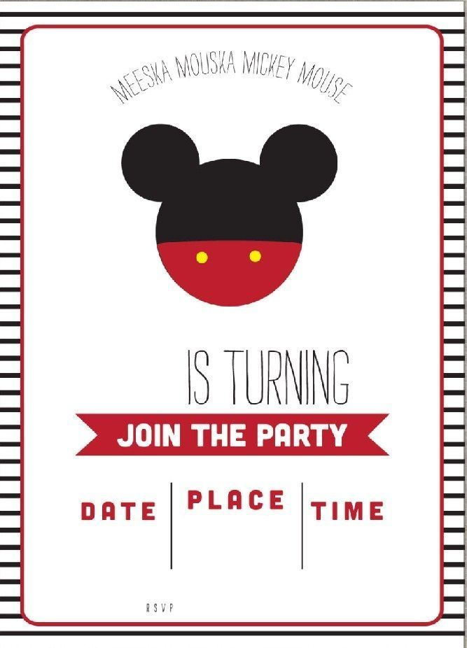 Get Free Template Free Simple Mickey Mouse Head Invitation Template In Free Micke Mickey Invitations Mickey Mouse Clubhouse Invitations Mickey Mouse Invitation