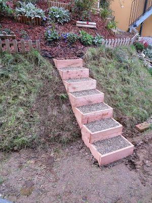 DIY-Anleitung für einfache Gartenstufen aus Holz So könnt ihr - gartentreppe holz selber bauen anleitung