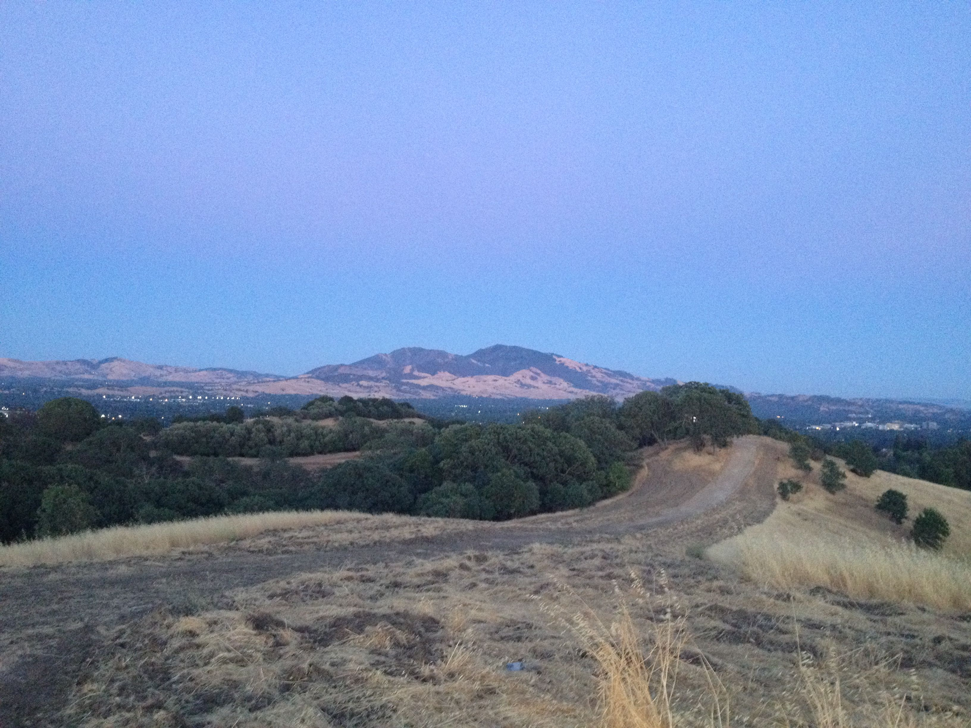 a view of mount diablo from a hilltop in pleasant hill, ca on july