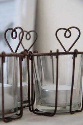 Heart Triple Candle Holder with T Lights 25cm Ideal Gift