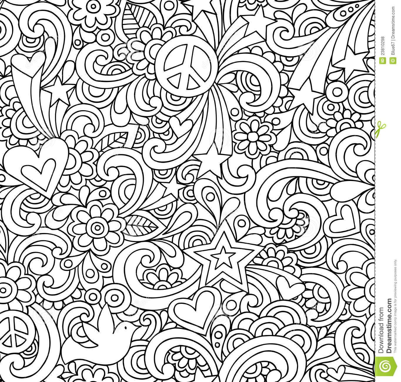 psychedelic peace coloring pages free coloring pages - Psychedelic Coloring Pages For Adults