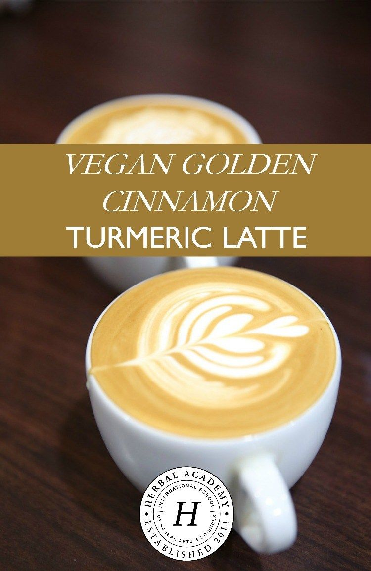 Vegan Golden Cinnamon Turmeric Latte | Herbal Academy | Looking for a way to spice up your morning routine? Check out this vegan golden cinnamon turmeric latte recipe that will do just that!