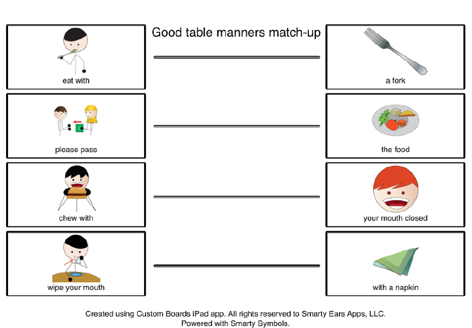 Good Table Manners During The Holidays---FREEBIE (a Social