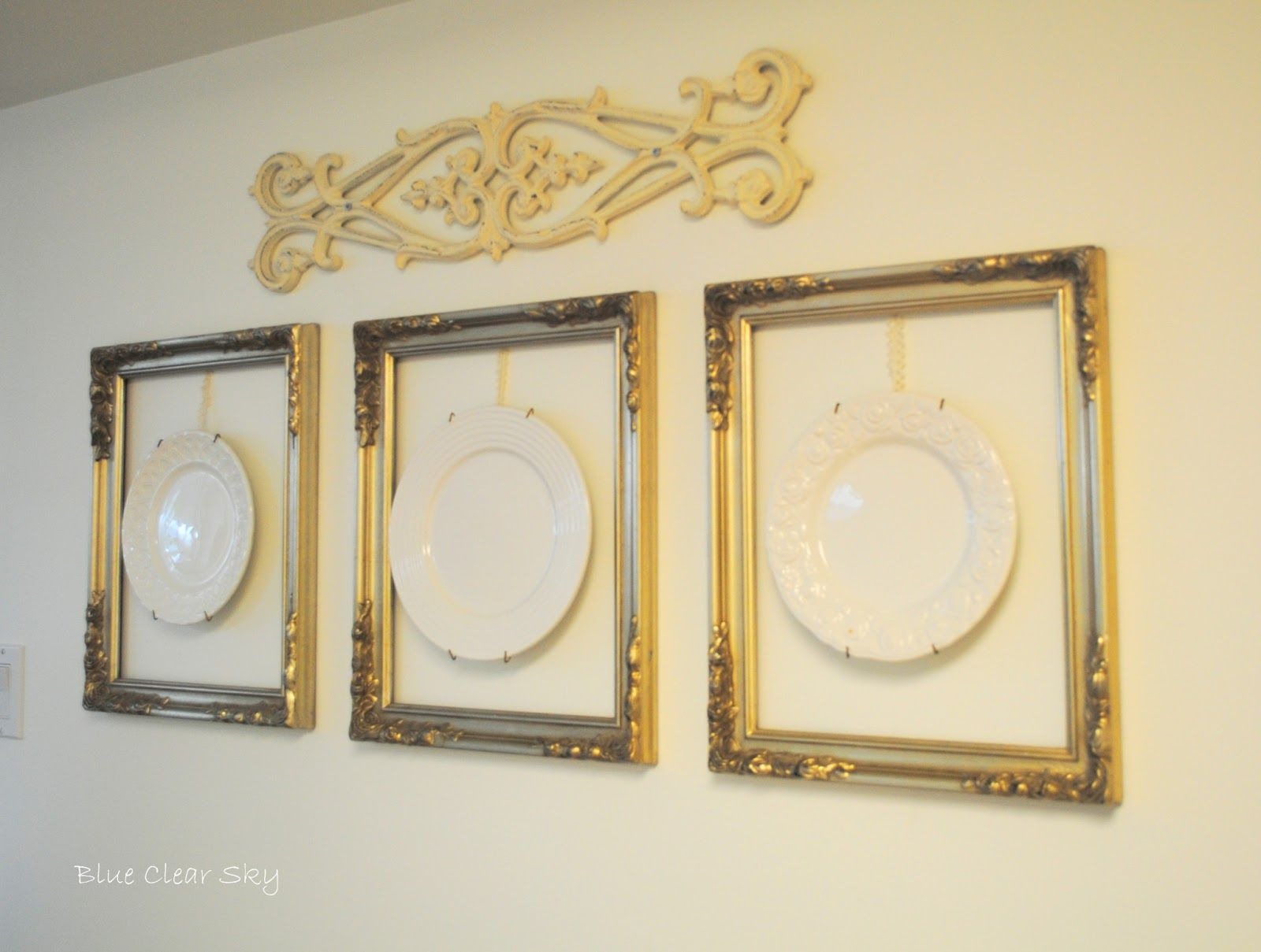 Blue Clear Sky: Decorating with Plates   DECORATING WITH PLATES ...