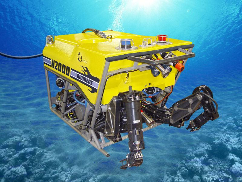 An ROV, or remotely operated underwater vehicle, is a tethered