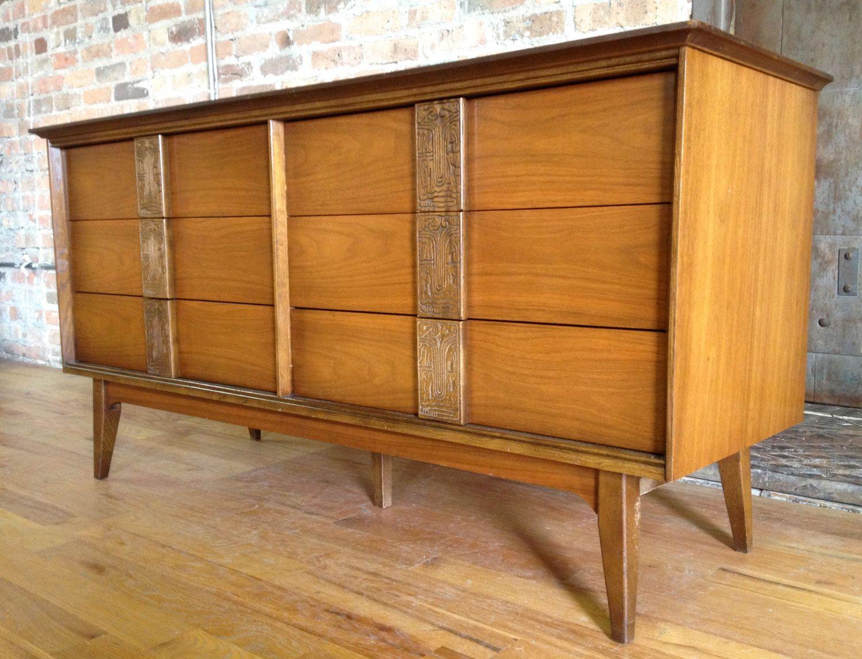 Bassett Mayan Dresser Furniture Midcentury Modern Bassett