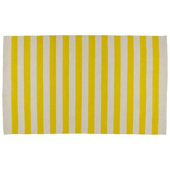 Yellow And White Striped Rug Our Band Kids Area Features Cream Stripes Perfect For Your Room Nursery Or Playroom