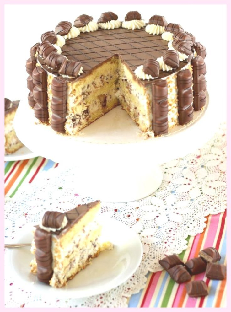 Easy Cake : Kinder Bueno Torte - the absolute blast for hazelnut lover and chocolate freaks .... Easy Cake : Kinder Bueno Torte - the absolute blast for hazelnut lover and chocolate freaks ....