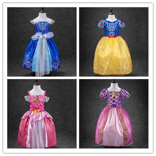 For Rapunzel size information as following:100 Suggest for 2T. 150 Suggest for 7-8T. 140 Suggest for 7-8T. For Aurora 3,cinderella 3, snow white2,…